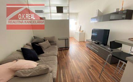 Ponúkame na prenájom 1-izbový byt vnovostavbe Letná Residence na Letnej ulici vBratislave, mestská časť Nové Mesto, 470,-Eur aj s energiami, KTV a internetom