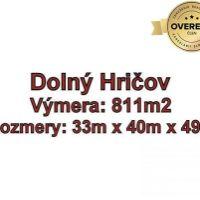 Pre rodinné domy, Dolný Hričov, 811 m²