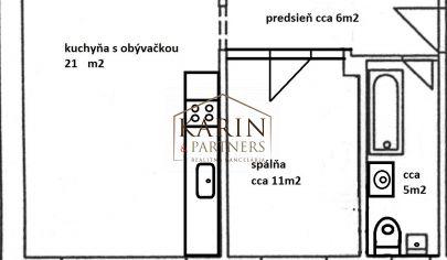 EXKLUZÍVNE NA PREDAJ  byt Trenčianska ul., Bratislava - možnosť prerobenia na 2 izbový/ 45,15 m2