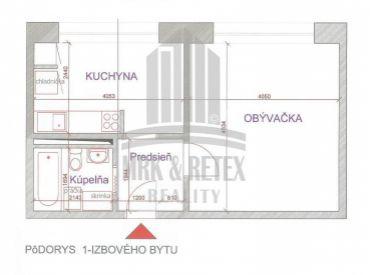 1 izbový byt so zariadením na ulici Znievska