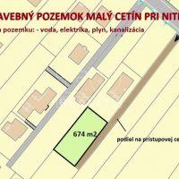 Pre rodinné domy, Malý Cetín, 835 m²