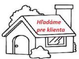 DOPYT: 4 až 5 izbový dokončený rodinný dom v okrese Pezinok