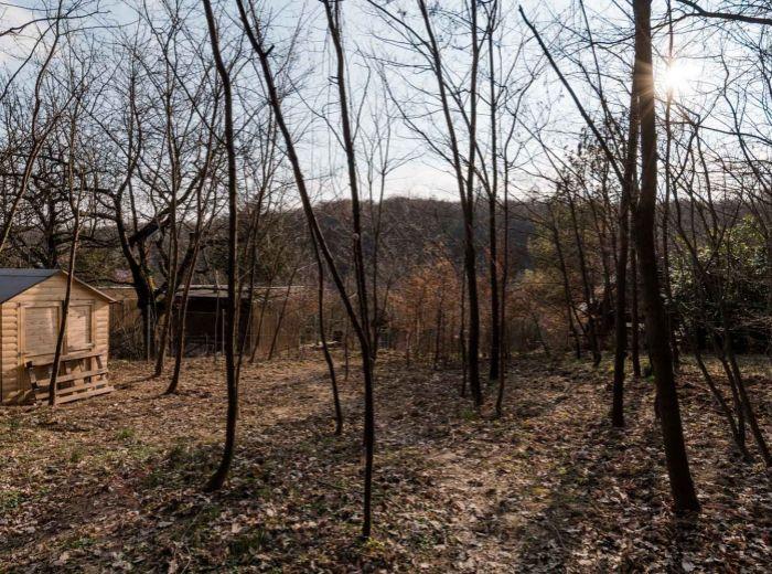 DÚBRAVKA, pozemok 957 m2 - PRI LESE, elektrika pri pozemku, oplotený, JUŽNÝ SVAH