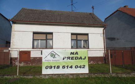 Na predaj rodinný dom v obci Dojč