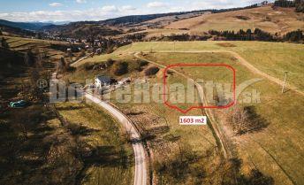 PREDAJ: Investičný pozemok na okraji rekreačnej zóny, 1603 m2, obec Čierny Balog, okres Brezno