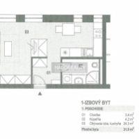 1 izbový byt, Nováky, 32 m², Novostavba