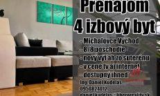 Nadštandardne priestranný 4i byt, Michalovce Východ