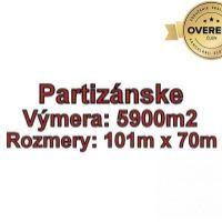 Pre rodinné domy, Partizánske, 5900 m²