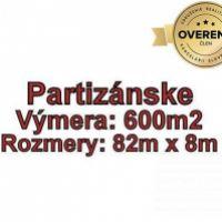 Pre rodinné domy, Partizánske, 600 m²