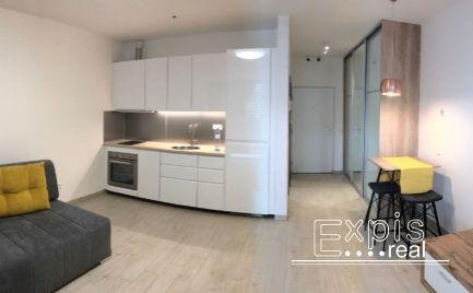 PRENÁJOM priestranný 1-izbový byt v novostavbe Tehelné pole na Bajkalskej  ulici.Expisreal