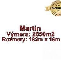 Pre rodinné domy, Martin, 2850 m²