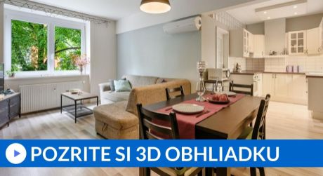 EXKLUZÍVNE 3 izbový byt v tichom zelenom kúte v Starom meste
