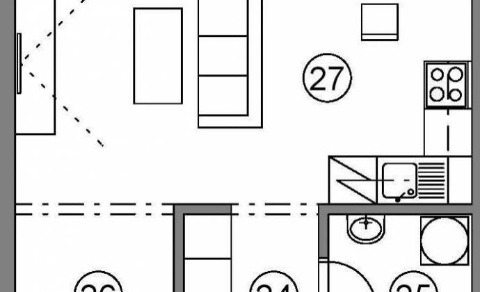 Prenájom - 1-izb. byt - Martin - Podháj - Novostavba