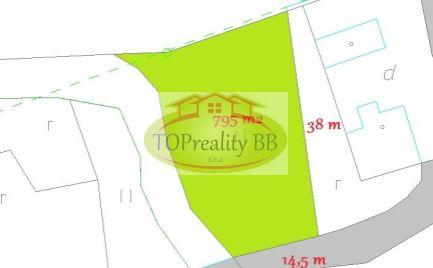 Rovinatý stavebný pozemok 795 m2, 16 km od  Banskej Bystrice – cena - 45 000€