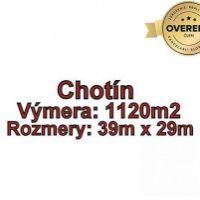 Pre rodinné domy, Chotín, 1120 m²