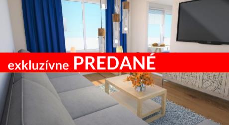REZERVOVANÉ EXKLUZÍNE 2-izbový byt s lodžiou s najnižšou cenou v meste