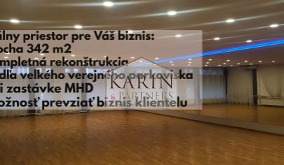 REZERVOVANÉ ! NA PREDAJ OBCHODNÝ/KANCELÁRSKY/ŠPORTOVÝ  PRIESTOR 342 M2