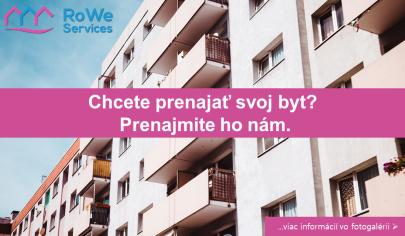Chcete prenajať svoj byt čo najvýhodnejšie? Prenajmite ho nám.