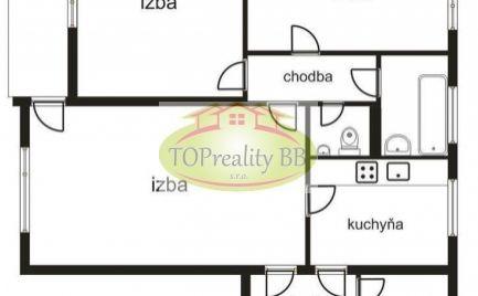 Byt 3  izbový, 70 m2,  typ  bauring s lodžiou,  Banská Bystrica, po rekonštrukcii cena  129 900€