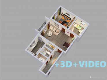 ViP.VIDEO - Byt 3+1 s balkónom 67 m2, blízko centra mesta - Zvolen