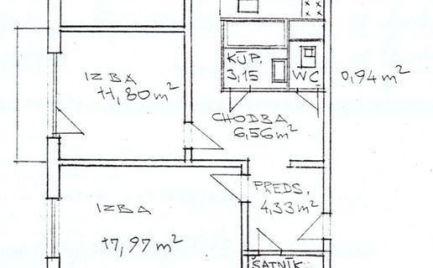 Ponúkame Vám na predaj byty. Top ponuka 3  izbový byt, 70 m2,  typ U s lodžiou,  Banská Bystrica, kompletná rekonštrukcia cena  124 500€