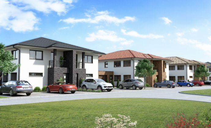 Nové 3-izbové byty na prízemí s 2 parkovacími miestami s garážou v Galante