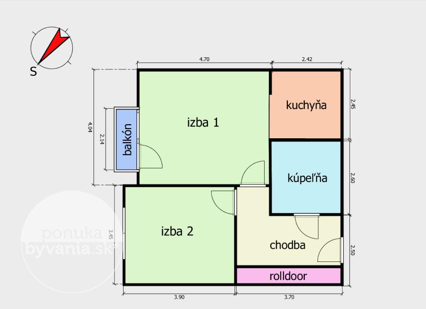 ponukabyvania.sk_Dvojkrížna_2-izbový-byt_BARTA