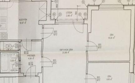 Tehlový  3  izbový byt, 66 m2,   s lodžiou,  Banská Bystrica, po kompletnej rekonštrukcii cena  155 000€