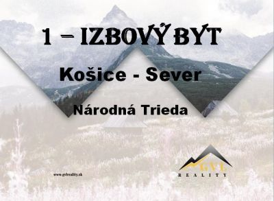 EXKLUZÍVNE! 1-izbový byt, Košice - Sever, 38 m2, balkón.