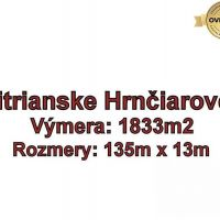 Pre rodinné domy, Nitrianske Hrnčiarovce, 1833 m²