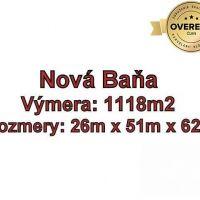 Pre rodinné domy, Nová Baňa, 1118 m²