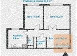 2 izb. byt v tichej lokalite, ROMANOVA ul.