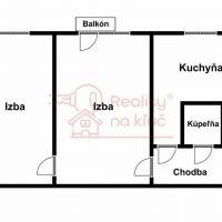 2 izbový byt, Nové Zámky, 1 m², Pôvodný stav