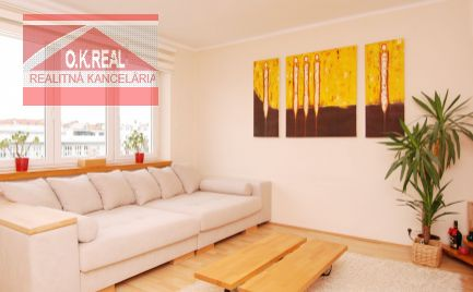 Ponúkame na prenájom 2 izbový slnečný štýlový byt s parkovaním na ulici Továrenská, Staré Mesto
