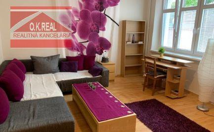 Ponúkame na prenájom veľký, novozariadený 1 izbový byt na ulici Pri starej prachárni – Bratislava – Nové Mesto