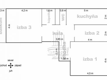 3 izbový byt na ulici JASOVSKÁ