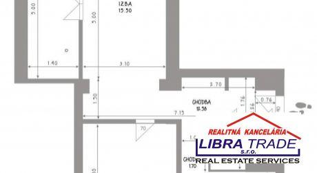 Predaj -  3 izbový tehlový byt v pôvodnom stave pri centre v Komárne