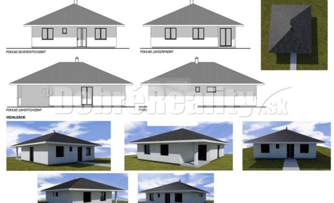 REZERVOVANÉ!!! 4-izbová tehlová novostavba bungalov v Kráľovej n/V, pozemok 608m2