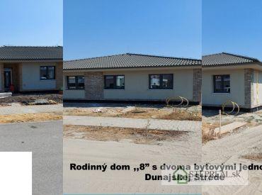 STEPREAL-  na predaj 4 izbový rodinný dom s terasou, v novostavbe typu bungalov s dvoma bytovými jednotkami