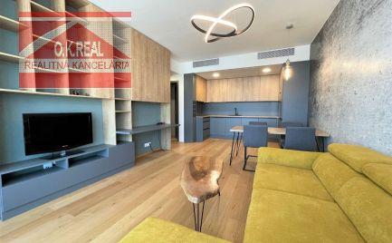 Ponúkame na prenájom nový 2-izbový byt v SkyPark Residence, 3.veža, Staré Mesto, Továrenská ulica