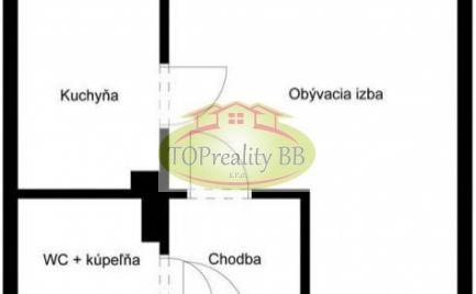 Byt 1 izbový byt, pôvodný stav, B. Bystrica, Fončorda – Cena 81 000€