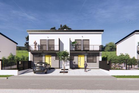 Novostavba 6 rodinných domov v obci Bitarová