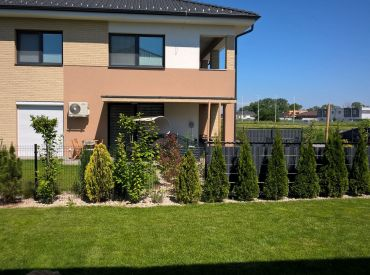 Prenájom krásnej novostavby 3-izbového bytu + 2 parkovacie miesta a záhradka v Hamuliakove