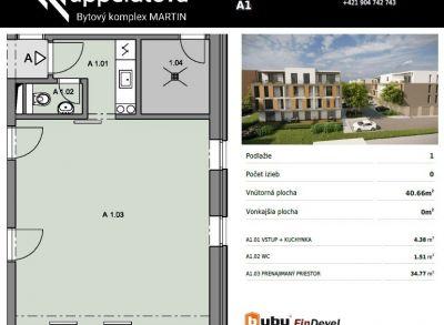 Byty Ruppeldtova: Na predaj nebytový/obchodný priestor v novostavbe, Martin - širšie centrum