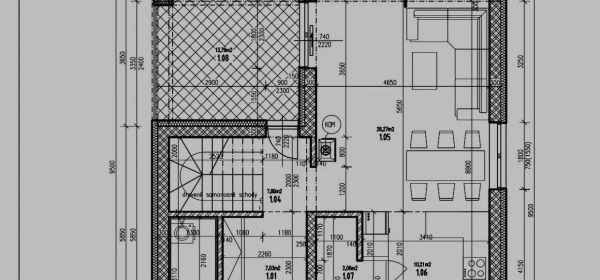 Kuchyňa: samostatne stojaca chata na 5 ar. pozemku.