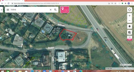 Predám menší pozemok v obci Vidiná,okres Lučenec