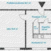 1 izbový byt, Bratislava-Podunajské Biskupice, 38 m², Čiastočná rekonštrukcia