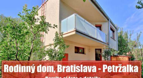 PREDANÉ ZA 5 DNÍ: Priestranný dom na bývanie i podnikanie, Bratislava - Petržalka