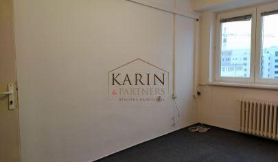 LEN:  8,33.-€/ m2/ mesiac! Prenájom dvoj kancelária s umývadlom 36m2 + parkovacie miesta, Bulharská ul., BA II., Trnávka.