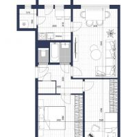 3 izbový byt, Bratislava-Karlova Ves, 66 m², Čiastočná rekonštrukcia